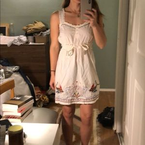 Anthropologie dress. Embroidered